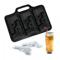 Handgun Silicone Ice Cube Tray - Black