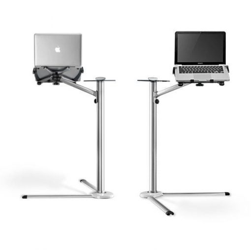 360º Rotating Adjustable Aluminium Laptop Stand Holder - Silver