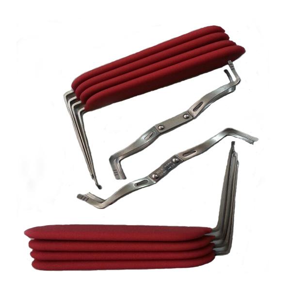 10 Pieces Car Lock Pick Tool Set - Red