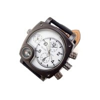 Oulm Watch With Large Dial and Compass - White