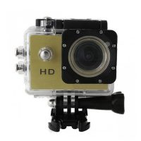 12 MP Photo Resolution 12 MP Image Sensor Action Camera with 1.5 inch LCD Monitor - Gold