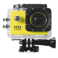12 MP Photo Resolution 12 MP Image Sensor  WIFI Action Camera with 2 inch LCD Monitor - Yellow