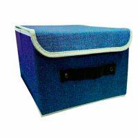 Foldable Fabric Storage Box - Blue