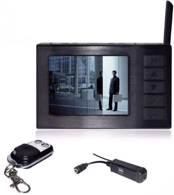 2.4 GHz Mini Wireless Camera With Monitor Audio And Video Receiver - Black