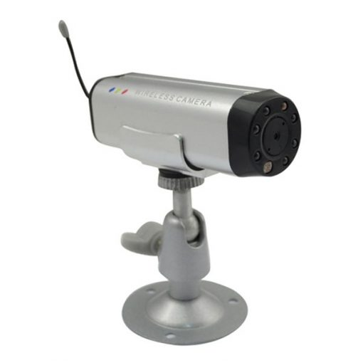 2.4GHz Mini CCTV 380 TV Lines Wireless Camera - Silver