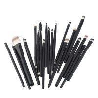 20 Pieces Makeup Brush Set - Black
