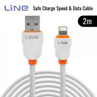 2 Meters Lightning Safe Charge Speed and Data Cable - Orange