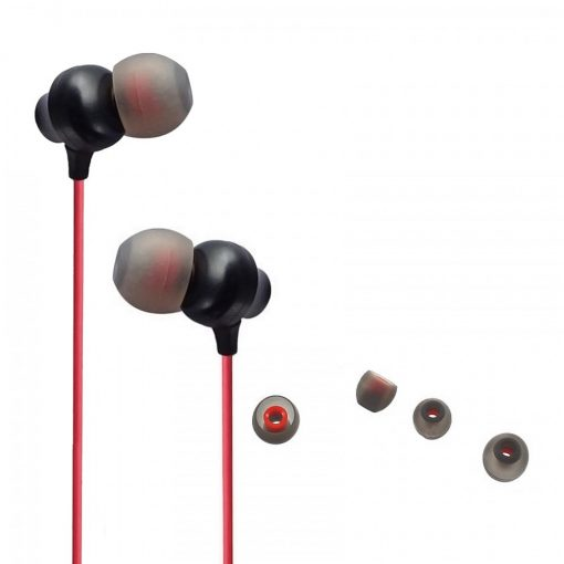 FSHANG Q1 Heavy Bass In Ear Wired Earphones With Microphone - Red
