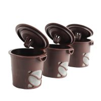 3 Pieces Reusable Clever Coffee Filter - Brown