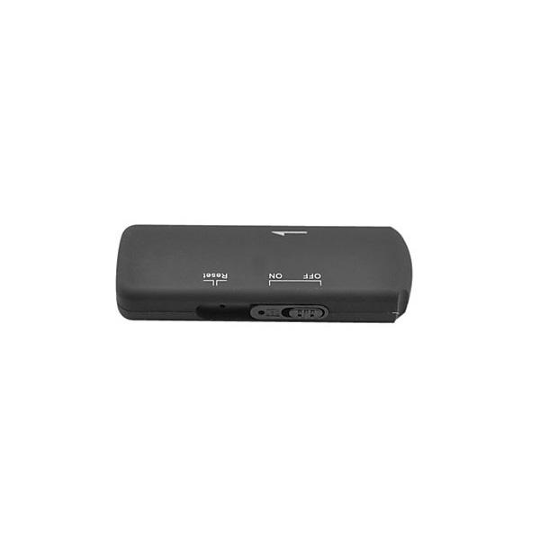4GB Portable USB 2.0 Flash Drive With Audio Recorder - Black