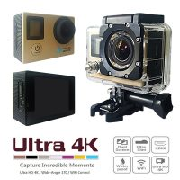 16 MP Wifi Action Camera with 2 Inch LCD Monitor And Fron LCD Screen - Gold