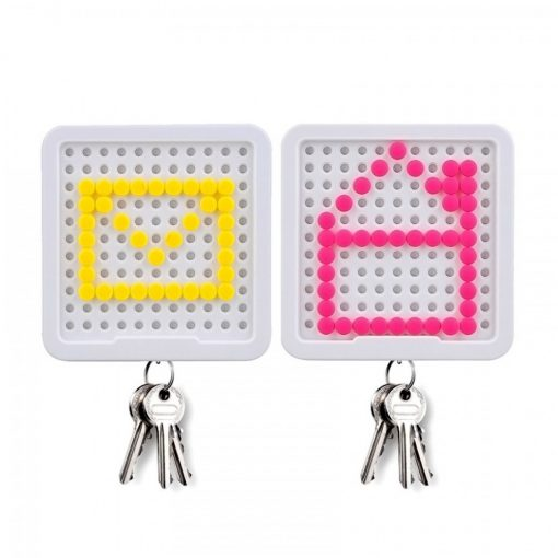 DIY Message Magnetic Key Holder With 200 Message Pins - White