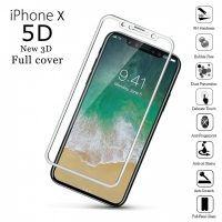 5D Grade Full Screen Protector Tempered Glass for iPhone X or 10 - White