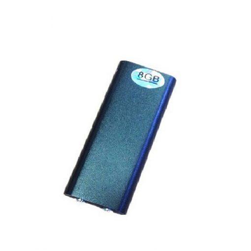 8GB Mini Spy Bug Micro Voice Recorder + MP3 Player - Black