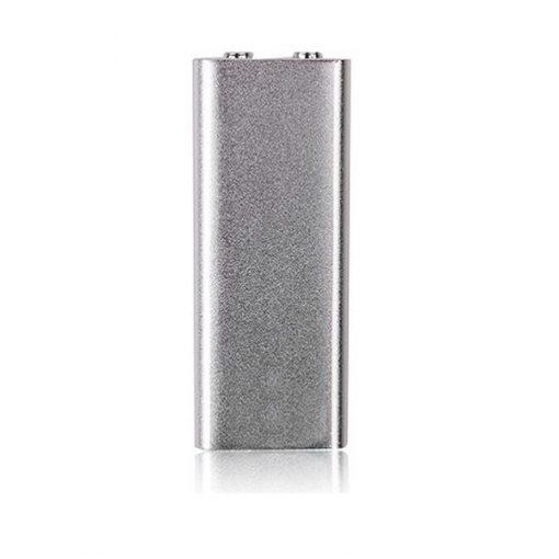 8GB Mini Spy Bug Micro Voice Recorder + MP3 Player - Silver