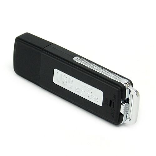 8GB USB 2.0 Flash Drive Disk Voice Recorder With Voice Sensor - Black