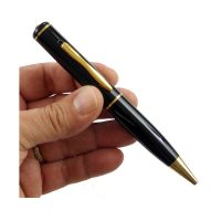 8GB Business Portable Recorder Video Spy Pen - Gold