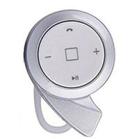 Button Type Bluetooth 4.0 Headset - White/Silver
