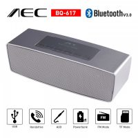 AEC Multifunction Bluetooth Speaker with Powerbank and FM Radio - Silver
