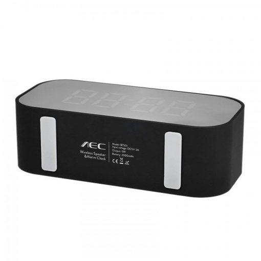 AEC BT501 Alarm Clock Wireless Bluetooth Speaker LED Display - Black