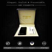 Kucipa ARC Cigarette USB Rechargeable Electric Lighter - Black