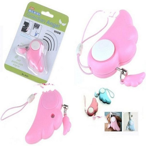 BLESI Wing Style Alarm - Anti-Lost Safety Alarm - Pink