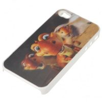 Baby Dinosaur 3D Protective case for Iphone 4/4s - White