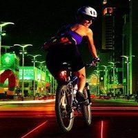 Bicycle Wireless Brake Laser Tail Lights
