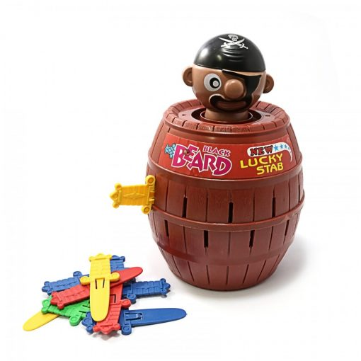 Lucky Stab Pirate Barrel Game Medium Size - Brown