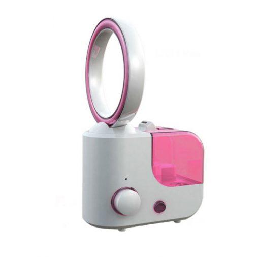 Bladeless Fan 1L Mini Household Humidifier - Pink