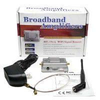 1 Watt Wifi Booster Amplifier Extender Signal Enhancer - Black
