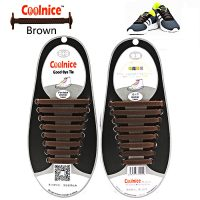 No Tie Silicone Shoelaces Size For Adult - Brown
