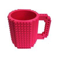 Build-On Brick Mug Style Puzzle Cup - Peach
