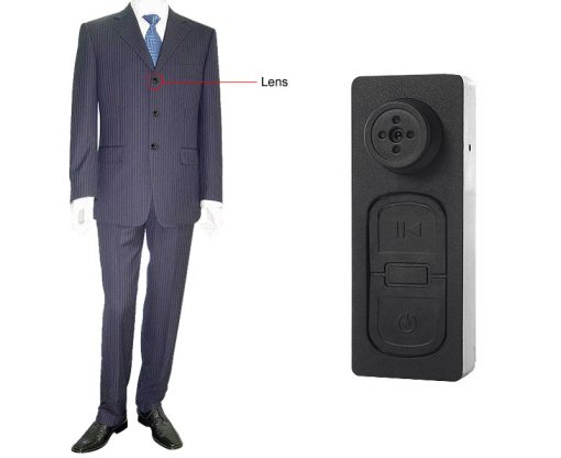 Button Camera With TF Card Slot - Black