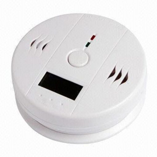 Carbon Monoxide Detector Alarm With LCD Display - White
