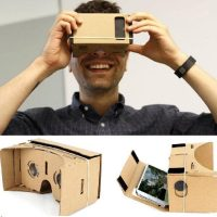 "Cardboard Reality Mobile Phone 3D Viewing Glasses 5.0"" Screen For Watching Movie"