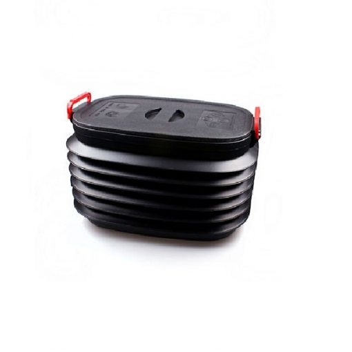 40 Liters Collapsible Plastic Boot Organizer - Black