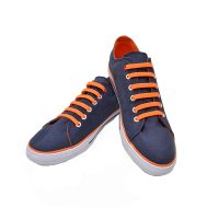 No Tie Silicone Shoelaces Size For Adult - Orange