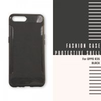 Fashion Case Protective Shell for OPPO A3S – Black