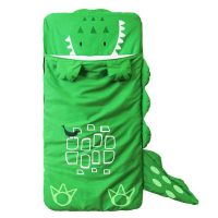 Crocodile Animal Shaped Toddler Sleeping Bag for Children - Green