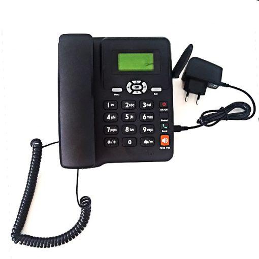 Dual Sim GSM Fixed Wireless Phone with FM Radio - Black