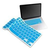 """Crystal Guard Soft Silicone Keyboard Case Cover for Apple Macbook Air 13"""" - Light Blue"""