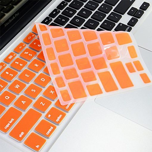 """Crystal Guard Soft Silicone Keyboard Case Cover for Apple Macbook Air 13"""" - Orange"""
