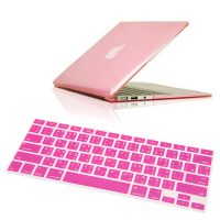 """Crystal Guard Soft Silicone Keyboard Case Cover for Apple Macbook Air 11"""" - Pink"""