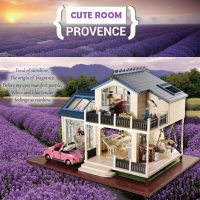 Cute Room Provence Lavender Dollhouse 32*24*20.5 CM