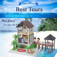 Cute Room Best Tours Maldives With Acrylic Frame - Blue