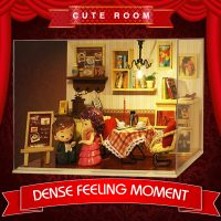 Cute Room Dense Feeling Moment Dollhouse 19.6*10*13.5CM