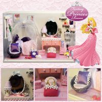 Cute Room Fantasy Princess Room 19.6*10*13.5CM