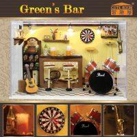 Cute Room Green's Bar Dollhouse 19.6*10*13.5CM