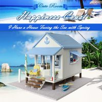 Cute Room Happiness Coast Beach Side Dollhouse 30*26*21.5 CM